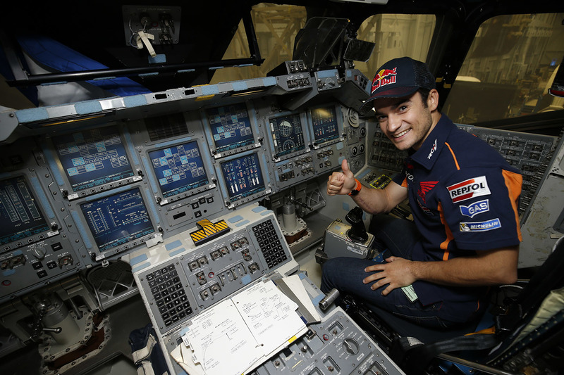 Dani Pedrosa, Repsol Honda Team durante una visita  al NASA Johnson Space Center