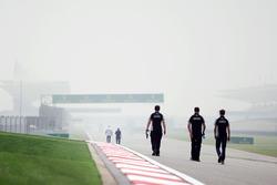 Нико Хюлькенберг, Sahara Force India F1 изучает трассу с командой