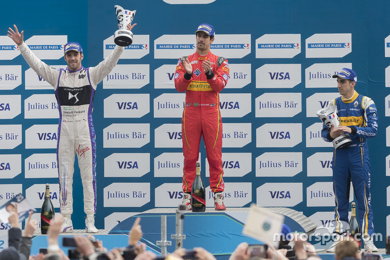 Podio: segundo lugar Jean-Eric Vergne, DS Virgin Racing