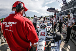 Firestone technician on Will Power, Team Penske Chevrolet car