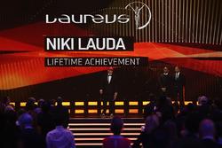 Niki Lauda, Mercedes Non-Executive Chairman and Lewis Hamilton, Mercedes AMG F1 Team