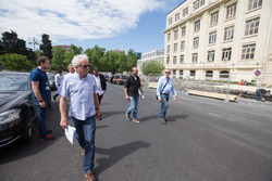 Charlie Whiting in Baku to check track preparations