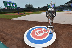The Borg-Warner Trophy at Chicago Cubs Wrigley Field