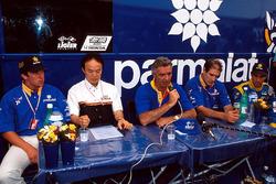 Olivier Panis, Flavio Briatore et Pedro Diniz, Ligier