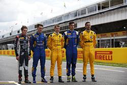 DAMS pilotos Santino Ferrucci, DAMS; Jake Hughes, DAMS; Kevin Joerg, DAMS y Alex Lynn, DAMS; Nicholas Latifi, DAMS