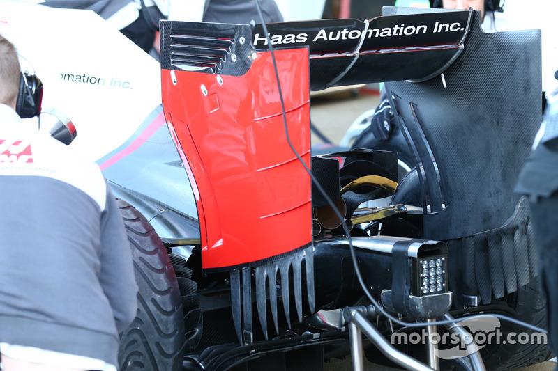 Haas F1 Team VF-16, dettaglio dell'ala posteriore