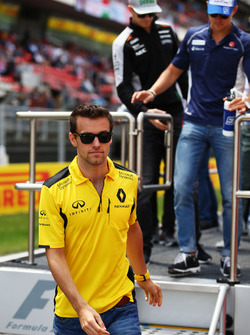 Jolyon Palmer, Renault Sport F1 Team, bei der Fahrerparade