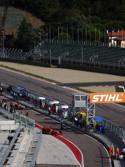 Philipp Eng in pit lane