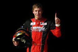 Kazim Vasiliauskas celebrates his maiden F2 Pole Position