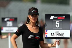 Grid girl for Alex Brundle