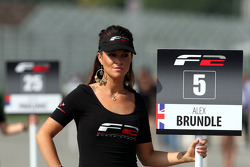 Grid girl for Alex Brundle