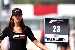 Grid girl for Henri Karjalainen