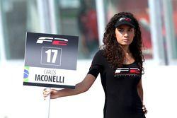 Grid girl for Carlos Iaconelli