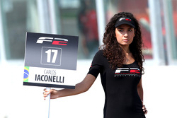 Grid girl for Carlos Iaconelli