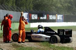 Jens Hoing: dans les graviers lors du tour 1