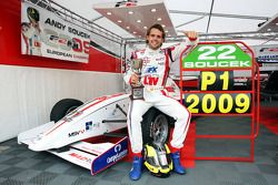 Andy Soucek with the F2 Championship Trophy