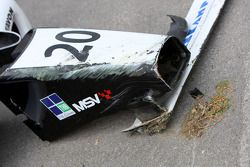 The broken nose cone of Jens Hoing