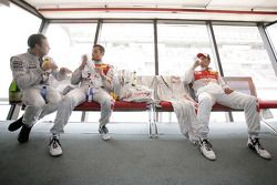 Gary Paffett, Team HWA AMG Mercedes, Martin Tomczyk, Audi Sport Team Abt, Timo Scheider, Audi Sport Team Abt