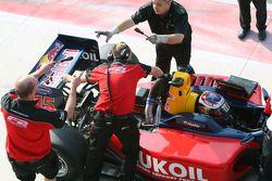 Mikhail Aleshin in pit lane