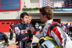 Race two pole sitter Robert Wickens with Andy Soucek