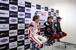 Post race two qualifying press conference: Andy Soucek, Robert Wickens and Mirko Bortolotti