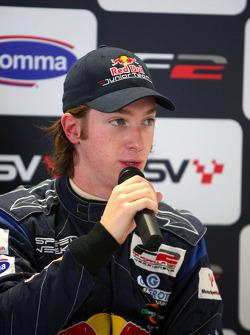 Mirko Bortolotti in the post race two qualifying press conference
