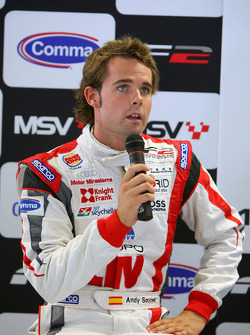 Andy Soucek in the post race two qualifying press conference