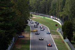 Pietro Gandolfi spins under the safety car