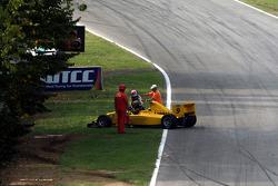 Pietro Gandolfi span under the safety car