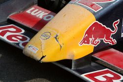 Cement dust on the nose of Robert Wickens