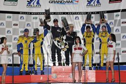GS podium: class and overall winners Billy Johnson and Jack Roush, second place Bill Auberlen and Ma