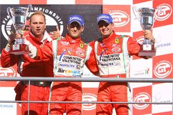 GT2 podium: class winners Alvaro Barba Lopez and Niki Cadei