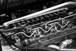 #07 Team Peugeot Total Peugeot 908 HDI FAP engine detail