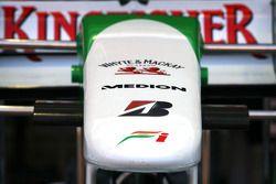 Force India F1 Team detalle de ala delantera