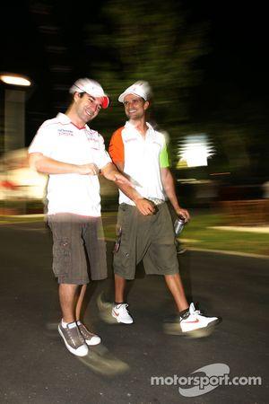 Timo Glock, Toyota F1 Team ve Vitantonio Liuzzi, Force India F1 Team