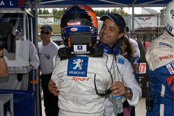 Le poleman Nicolas Minassian avec Pedro Lamy