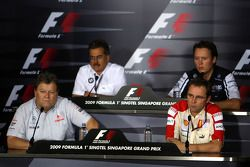 Norbert Haug, Mercedes, Dr. Mario Theissen, BMW Sauber F1 Team, , Sam Michael, WilliamsF1 Team, Stefano Domenicali, Scuderia Ferrari