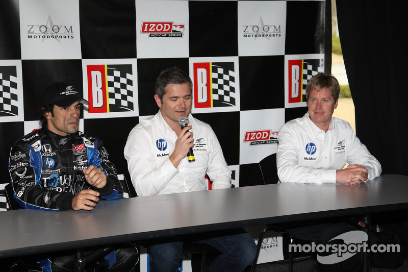 de Ferran Luczo Dragon Racing persconferentie met Raphael Matos en Gil de Ferran