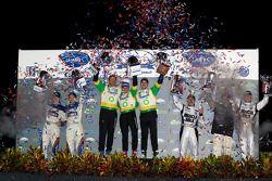 P2 podium: victoire de Butch Leitzinger, Marino Franchitti & Ben Devlin, devant Adrian Fernandez & L