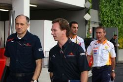 Franz Tost, Scuderia Toro Rosso, director del equipo, Christian Horner, Red Bull Racing, deportivo D
