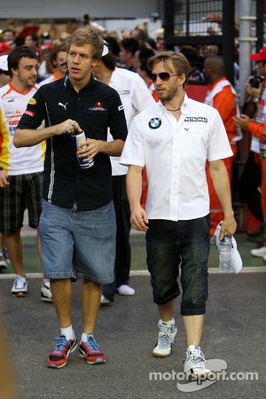 Sebastian Vettel, Red Bull Racing, Nick Heidfeld, BMW Sauber F1 Team