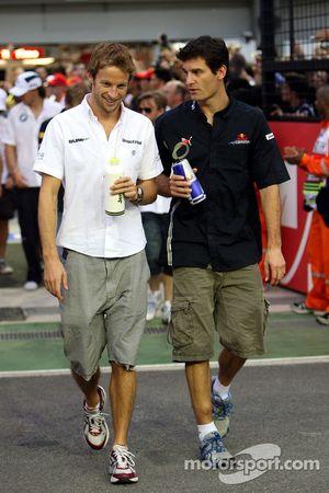 Jenson Button, BrawnGP, Mark Webber, Red Bull Racing