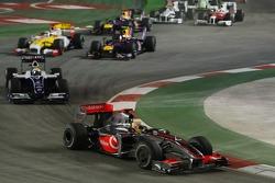 Start of the race, Lewis Hamilton, McLaren Mercedes, Nico Rosberg, WilliamsF1 Team