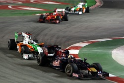 Sebastian Vettel, Red Bull Racing and Adrian Sutil, Force India F1 Team