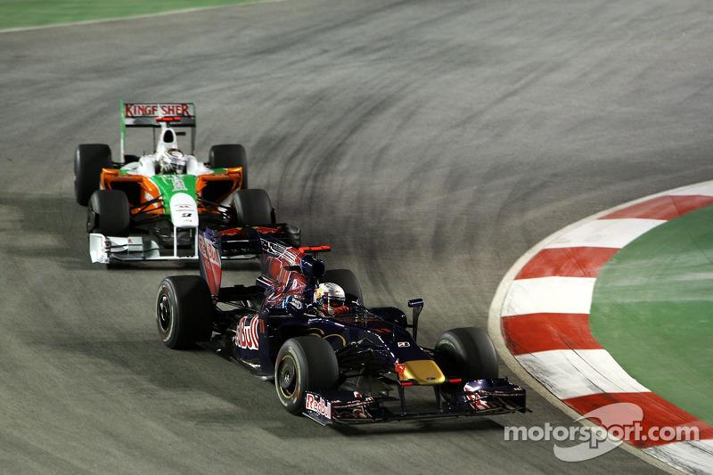 Jaime Alguersuari, Scuderia Toro Rosso ve Adrian Sutil, Force India F1 Team
