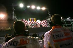 Timo Glock, Toyota F1 Team, Lewis Hamilton, McLaren Mercedes ve Fernando Alonso, Renault F1 Team