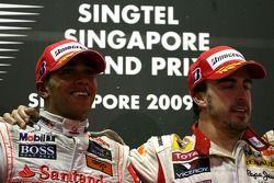 Lewis Hamilton, McLaren Mercedes and Fernando Alonso, Renault F1 Team