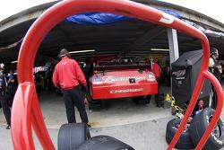 Kasey Kahne's crew works on his Budweiser Dodge
