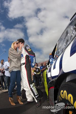 Jimmie Johnson, Hendrick Motorsports Chevrolet avec sa femme Chaundra