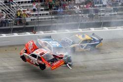 Major crash for Joey Logano, Joe Gibbs Racing Toyota